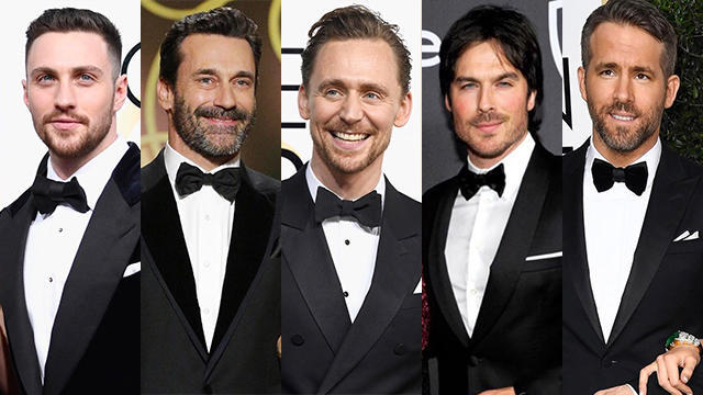 Celebrities with beards 2017 golden globes featured