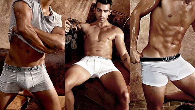Joe jonas guess underwear campaign featured