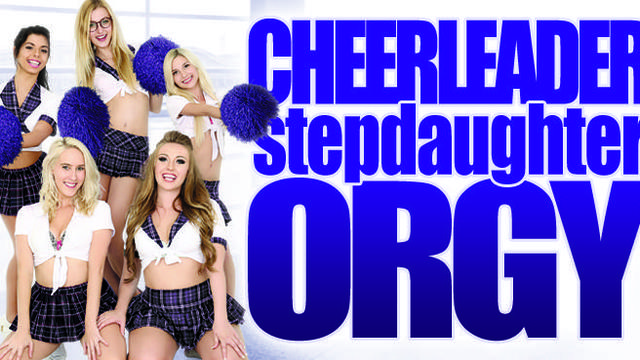 Cheerleader stepdaughter orgy featured