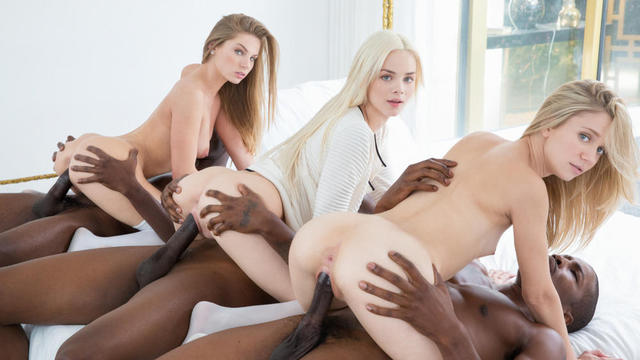 Blacked threesome featured