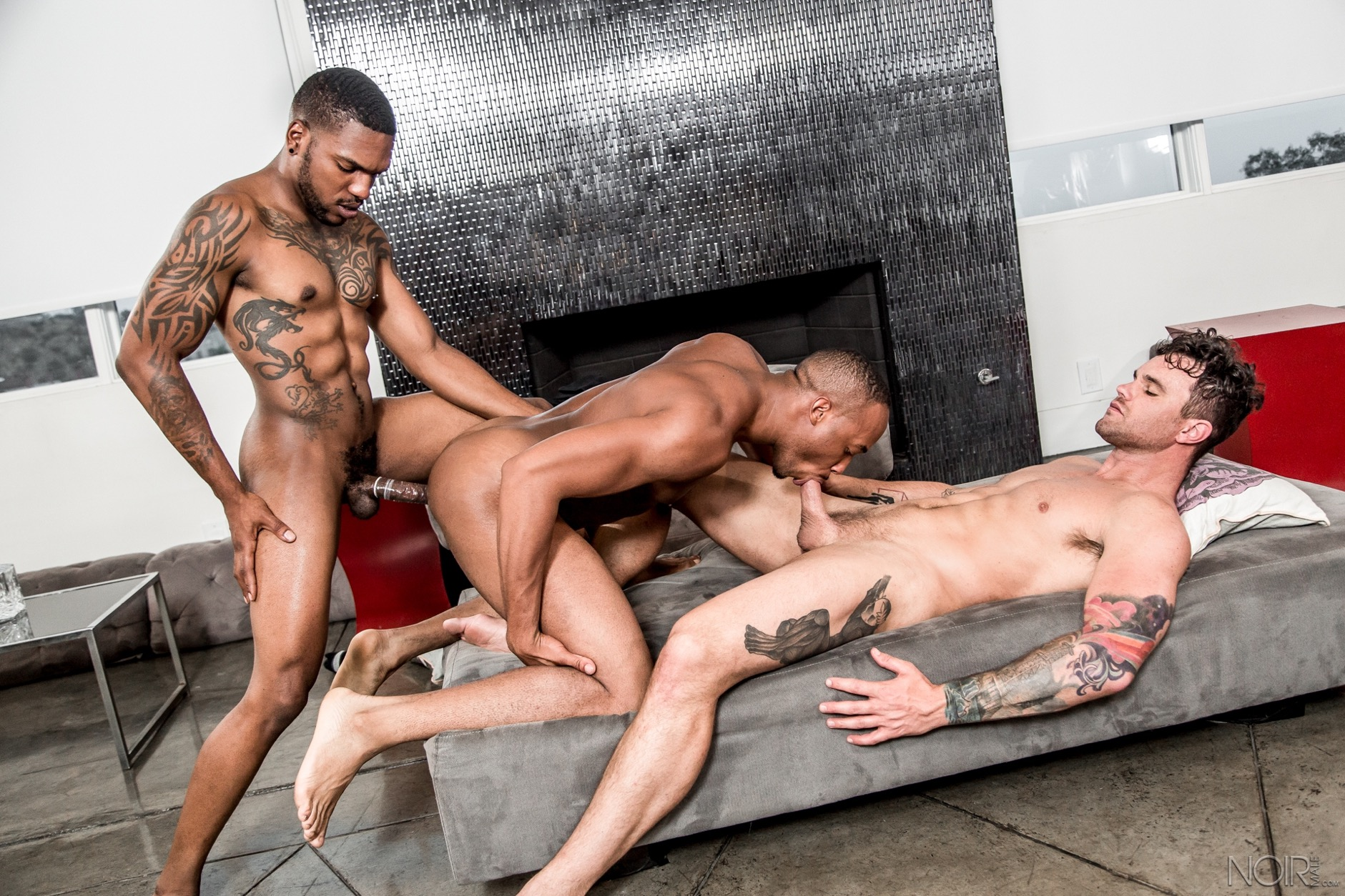 interracial gay threesome