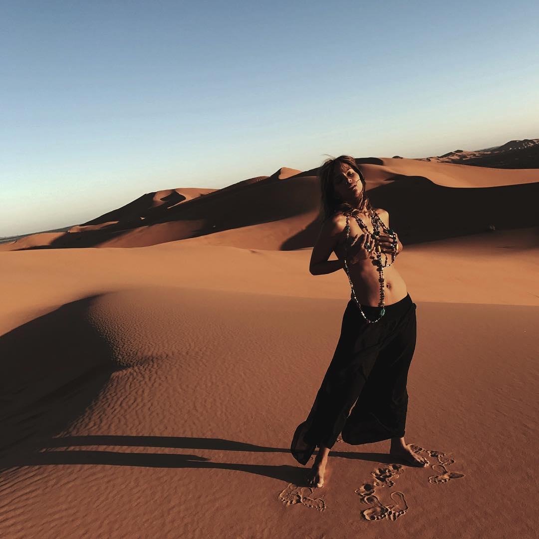 Halle Berry Topless Desert