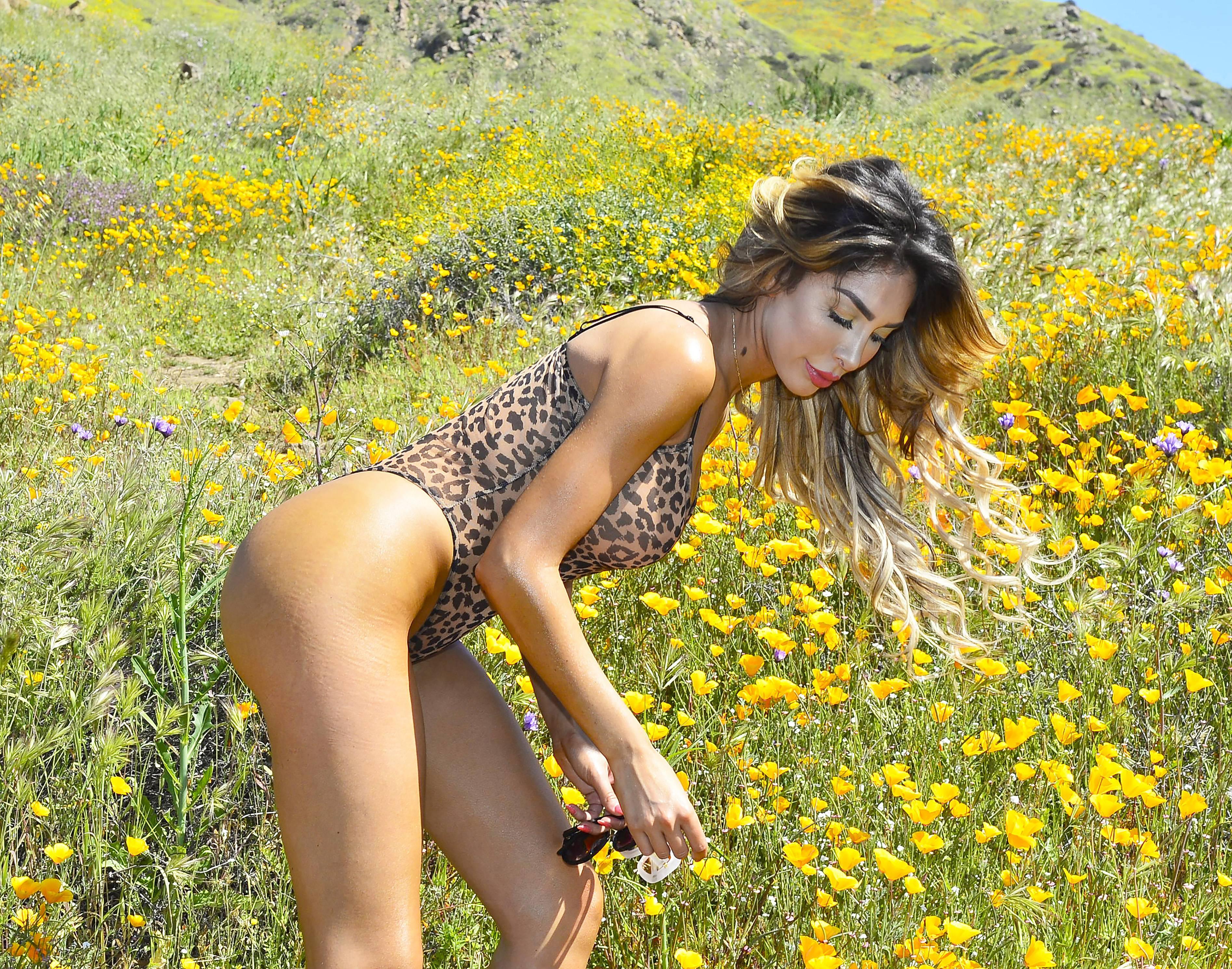 Farrah Abraham spring photoshoot